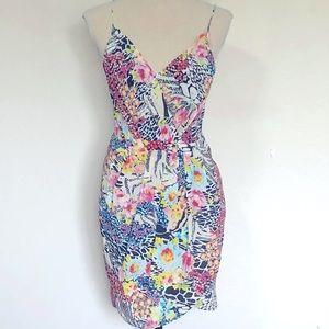 Yumi Kim Jayne Floral Silk Dress Sz S